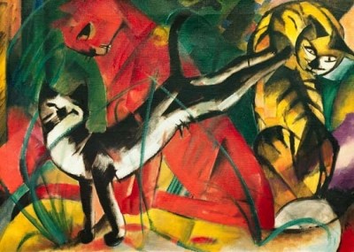 Picture: Three cats (1913) - Franz Marc - Dreams featuring animals are very frequent, therefore they play a key role for the interpretation of dreams.